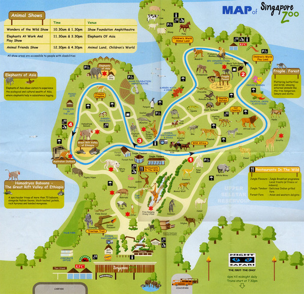 Map of Singapore Zoo