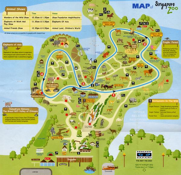 Singapore Zoo  Map of Singapore Zoo  ellery311