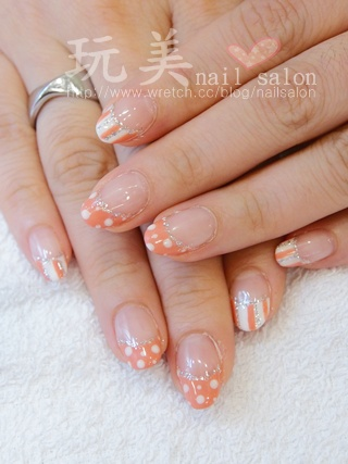 可愛造型法式光療、凝膠指甲