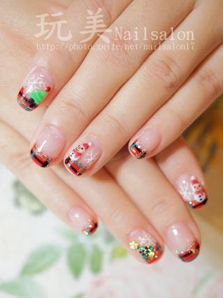 聖誕風凝膠指甲