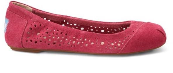 Pink Moroccan Cutout Women's Ballet Flats.1.jpg