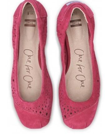 Pink Moroccan Cutout Women's Ballet Flats.2.jpg