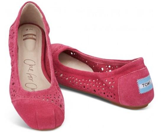 Pink Moroccan Cutout Women's Ballet Flats..jpg