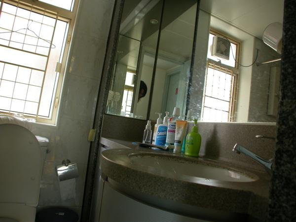 浴室,鏡子後面都是收納空間