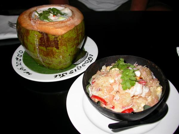 前菜葡萄柚沙拉,泰國No.1的湯品--冬蔭功