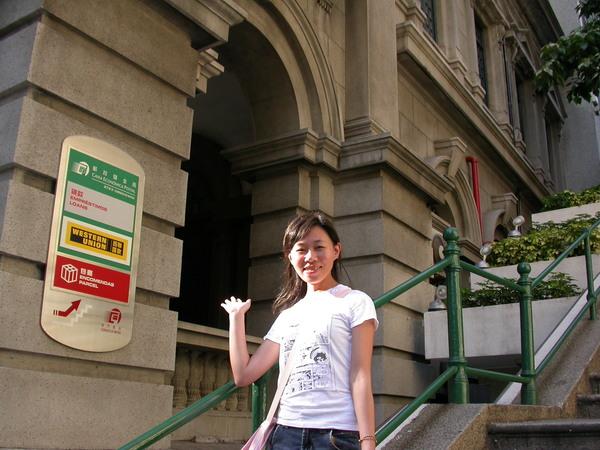 jessie背後是澳門郵局