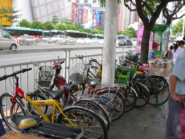 腳踏車也很多