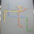地鐵圖,也很四通八達呢!