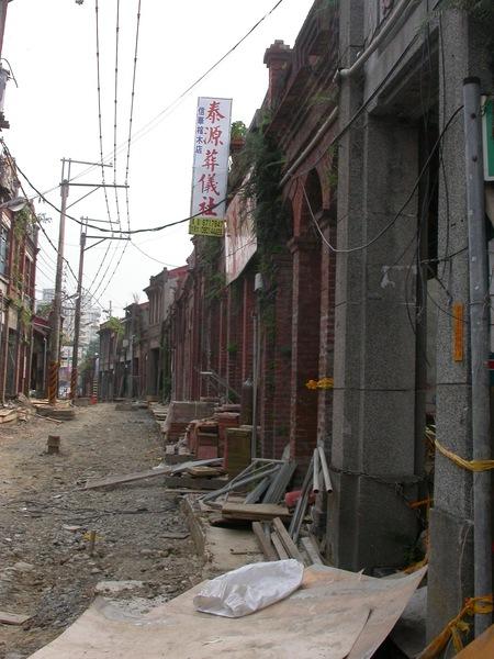 整修中的三峽老街