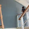 油漆師傅阿志說這顏色很難上XD