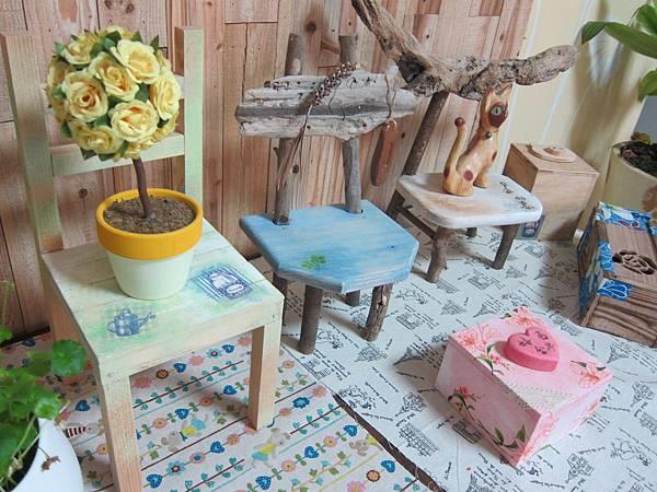 自然風小椅們