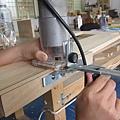 架導尺、接直刀的修邊機