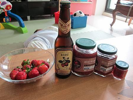 還有草莓啤酒和手工果醬