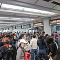 依舊繁忙的香港機場入境