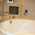 浴缸旁有電視