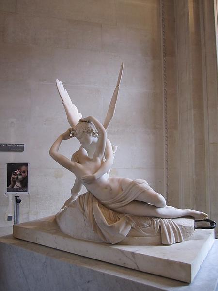 Psyche and Cupid 賽姬和邱比特 - 故事中他們用「愛」(邱比特為愛神) 和「心靈」(Psyche 為心靈之意) 尋找對方