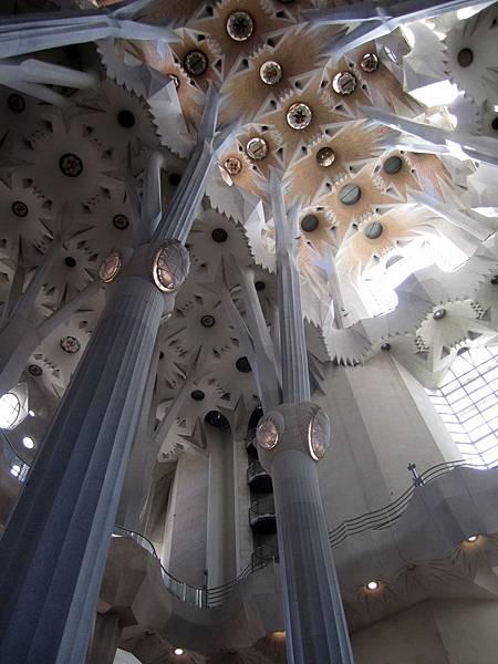 內部中堂的柱群和天花板