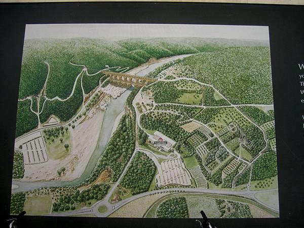 水道橋引水灌溉示意圖