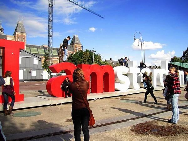 I amsterdam - 天氣太好人太多, 無法照到乾淨完整的畫面 =..=