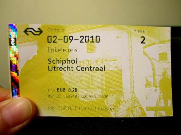 Schiphol --> Utrecht CS