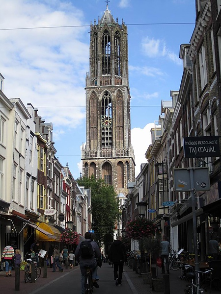 The landscape of central Utrecht - Dom Tower