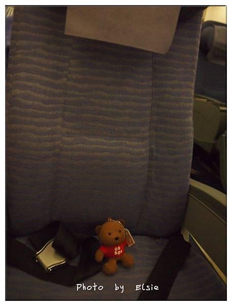 Elsie帶我坐飛機...可是沒有適合我的飛機座椅