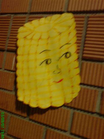 這玉米頭的表情很詭異