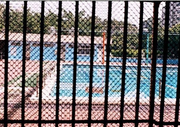 柵欄裡的游泳