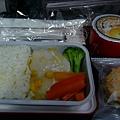 P1100835-香港飛高雄的機上只有一種選擇-魚排飯.JPG