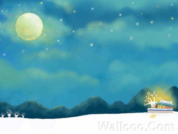 童話秋天插畫桌布 -中秋月亮插畫桌布.jpg
