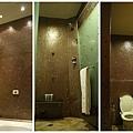 由右至左是廁所、淋浴間與浴缸