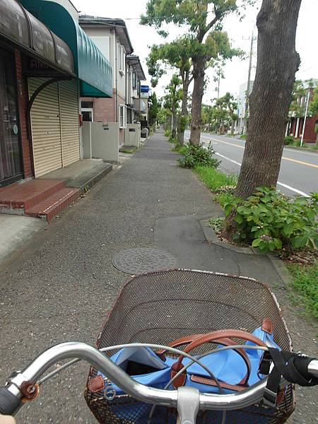 騎到一個大彎又是上坡我就迴轉倒頭了,同一條街道左右盡是民宅,偶爾出現幾間小店,或大型連鎖店及加油站。