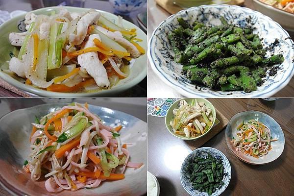 今日晚餐:西芹炒雞柳/四季豆拌黑芝麻/火腿三絲,各各是用心傑作啊,結果葉某人和朋友出去玩了整整12小時,回來菜都涼了~掯!