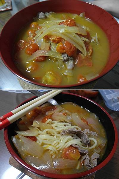 喵傳授的蕃茄洋蔥牛肉麵~超好吃!!!