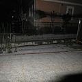 2/16 下午開始下雪,晚上11點往院子看才發現積雪了!