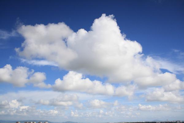 最近很容易見到漂亮的天空,像今天下午的天空又比昨天更藍了