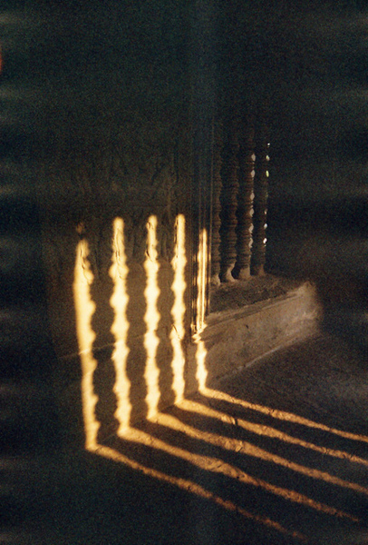 Angkor Wat的迴廊裡