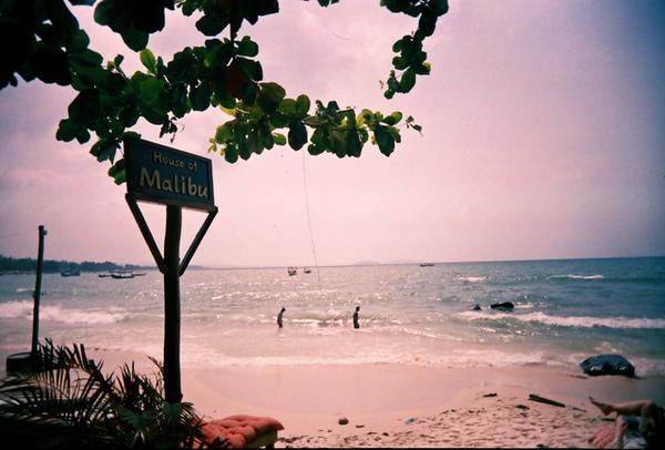 意外的來到了Sihanouk ville的海邊