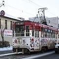 函館的路面電車也是這裡的特色唷,不過我們這次都沒有坐到電車