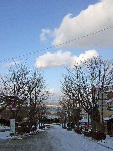 除了少數的觀光客,函館其實蠻冷清的,枯樹與白雪加深了寂靜氣氛
