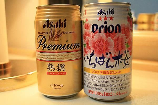 右邊的一級棒櫻花只是口味較淡的啤酒,因為寫季節限定我就...