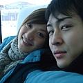 這麼大台的巴士裡只有我們二個乘客耶!