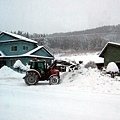 住在山裡的人都好專業,鏟雪都用推土機不用鏟子~哈哈