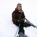 拍完馬上跌倒,跌得滿臉都是雪~嗚~爬起來真的夭壽花力氣的!