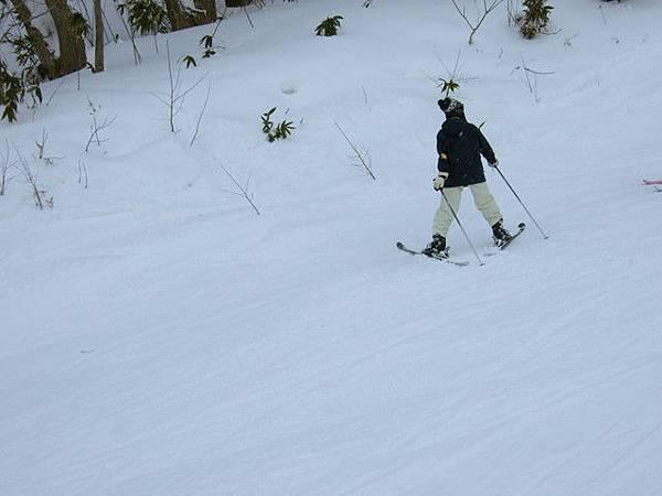 回家看照片才發現這女生是倒退滑雪~真力害!