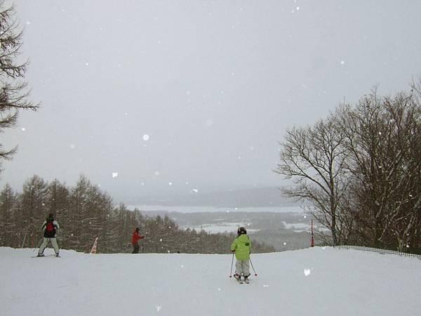 雪花紛飛  美麗的七飯滑雪場,希望有機會再來玩~
