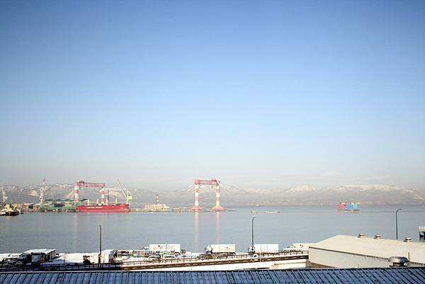 窗外的港口view,看來今天的天氣很棒唷!
