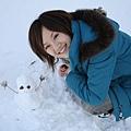 生平的第一個雪人,他的手真的超可愛~