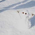 小雪人一號在溫暖冬陽下的身影