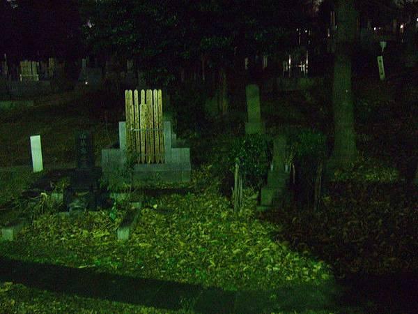 光從外圍就可看到一大片墓地,一路上沒行人只有快速通行的車子